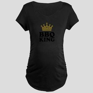 BBQ King crown Maternity Dark T-Shirt