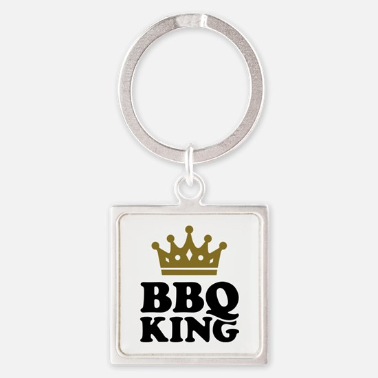 BBQ King crown Square Keychain