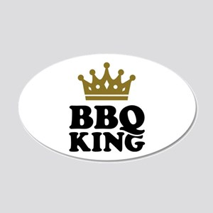 BBQ King crown 20x12 Oval Wall Decal