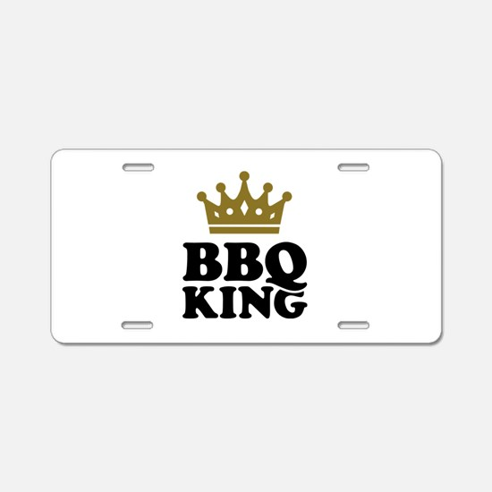 BBQ King crown Aluminum License Plate