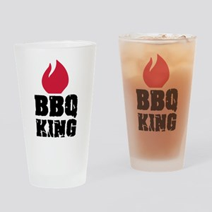 BBQ King fire Drinking Glass