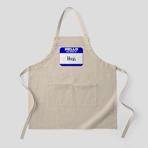 hello my name is hai  BBQ Apron