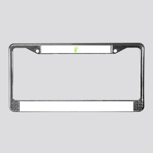 Awareness Ribbon (Lime Green) License Plate Frame