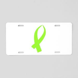 Awareness Ribbon (Lime Green) Aluminum License Pla