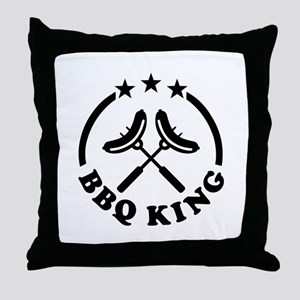 BBQ King barbecue Throw Pillow