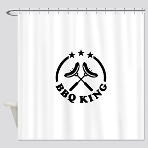 BBQ King barbecue Shower Curtain
