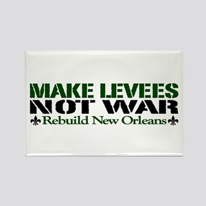 Make Levees Not War Rectangle Magnet