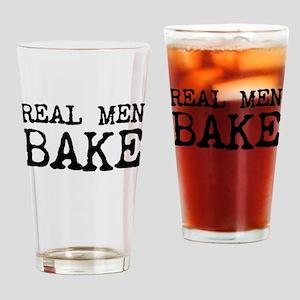 Real Men Bake Drinking Glass