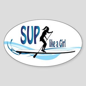 SUP like a Girl Sticker