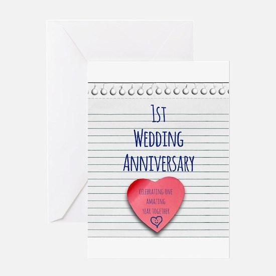 1st Wedding Anniversary Greeting Cards