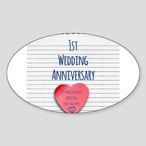 1st Wedding Anniversary Sticker