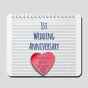 1st Wedding Anniversary Mousepad