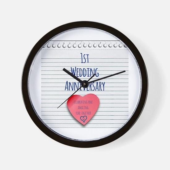 1st Wedding Anniversary Wall Clock