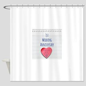 1st Wedding Anniversary Shower Curtain