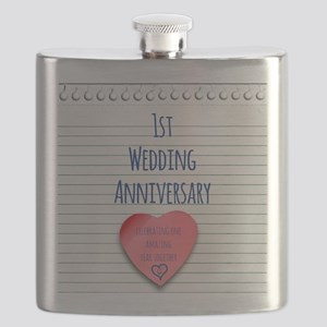 1st Wedding Anniversary Flask