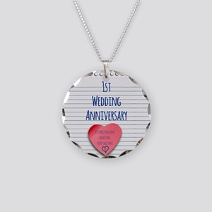 1st Wedding Anniversary Necklace