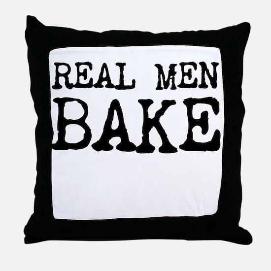 Real Men Bake Throw Pillow