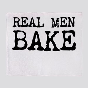 Real Men Bake Throw Blanket