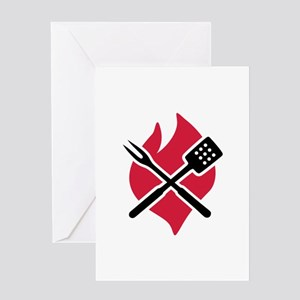 BBQ barbecue Fire Greeting Card