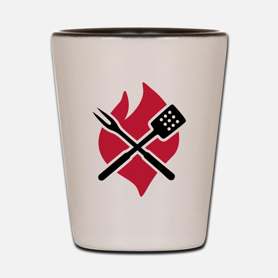 BBQ barbecue Fire Shot Glass