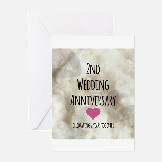 2nd Wedding Anniversary Greeting Cards