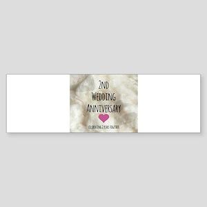 2nd Wedding Anniversary Bumper Sticker