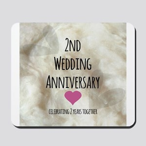 2nd Wedding Anniversary Mousepad