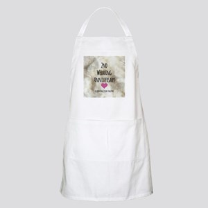 2nd Wedding Anniversary Apron