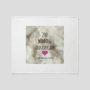 2nd Wedding Anniversary Throw Blanket