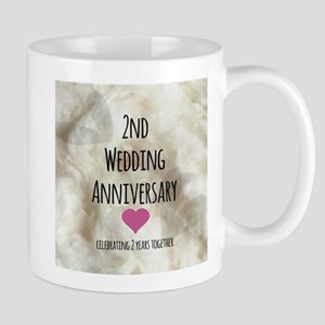 2nd Wedding Anniversary Mugs