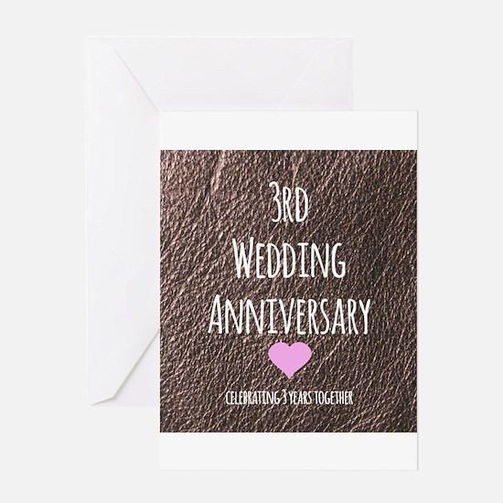 3rd Wedding Anniversary Greeting Cards
