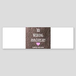 3rd Wedding Anniversary Bumper Sticker