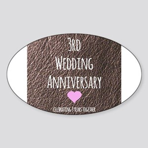 3rd Wedding Anniversary Sticker