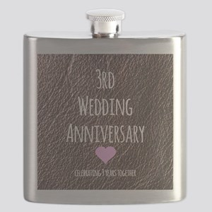 3rd Wedding Anniversary Flask