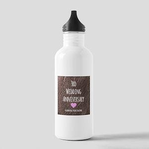 3rd Wedding Anniversary Water Bottle