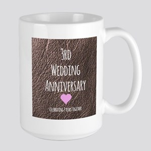 3rd Wedding Anniversary Mugs