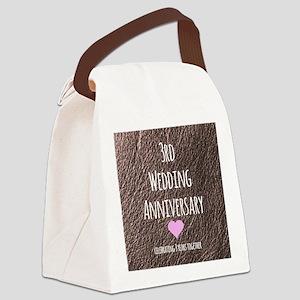3rd Wedding Anniversary Canvas Lunch Bag