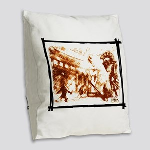 Cruent duel in the ancient Rom Burlap Throw Pillow