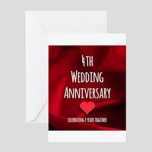 4th wedding anniversary greeting cards cafepress 4th wedding anniversary greeting cards m4hsunfo