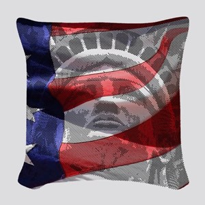 Statue of Liberty Woven Throw Pillow