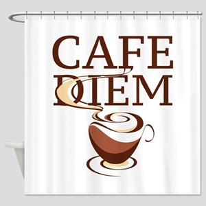 Cafe Diem Shower Curtain