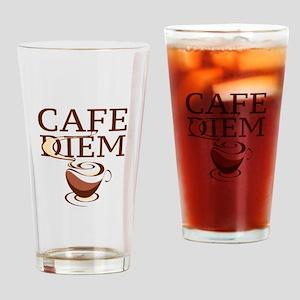 Cafe Diem Drinking Glass