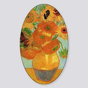 Vase with twelve Sunflowers, Vincen Sticker (Oval)