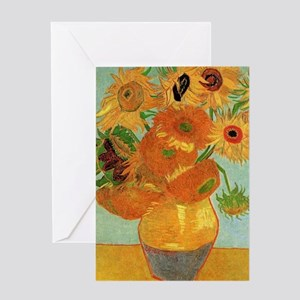 Vase with twelve Sunflowers, Vincent Greeting Card