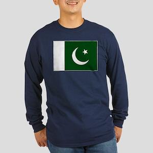 Pakistani flag Long Sleeve Dark T-Shirt