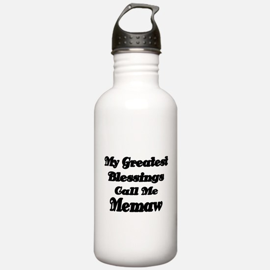 My Greatest Blessings call me Memaw 2 Water Bottle