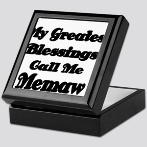My Greatest Blessings call me Memaw 2 Keepsake Box