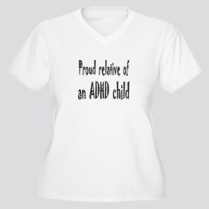 Plus V-neck T for relative of an ADHD child