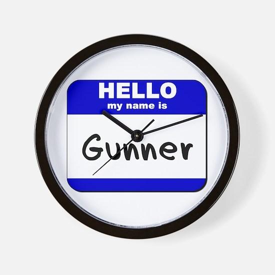 hello my name is gunner  Wall Clock