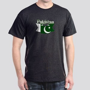 Pakistan flag ribbon Dark T-Shirt